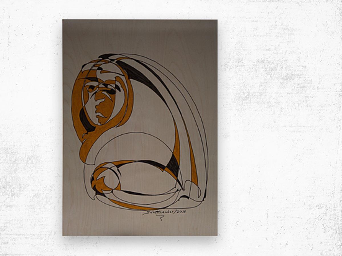 13 C Wood print
