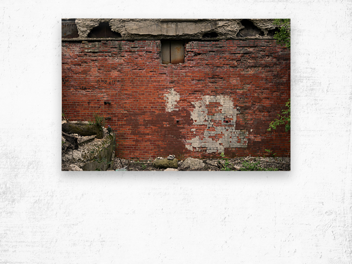 Another Brick in the Wall Wood print