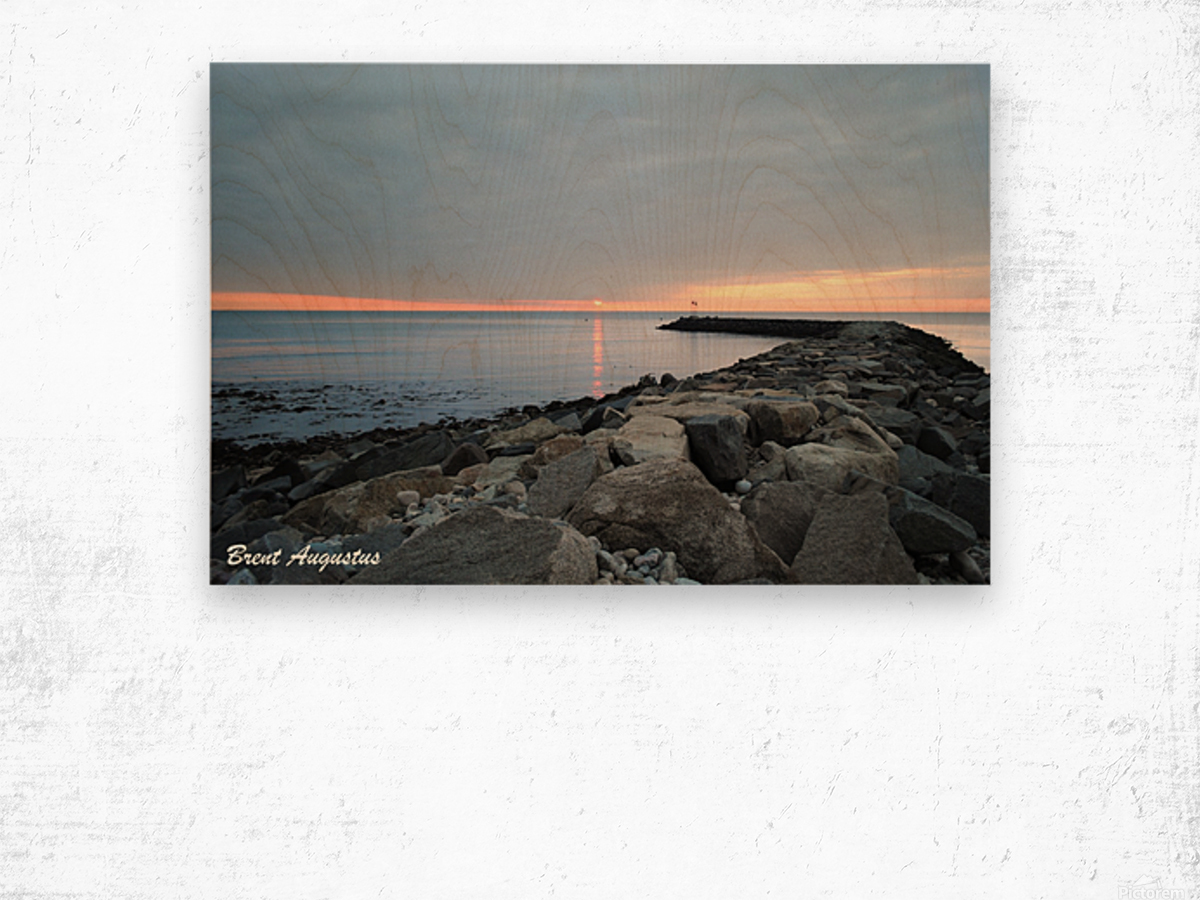 New England Sunrise Wood print