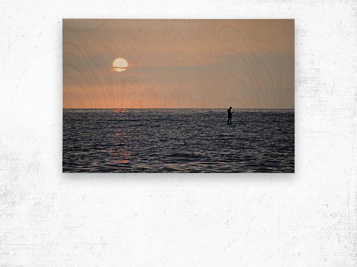 Sinking Sunset Wood print