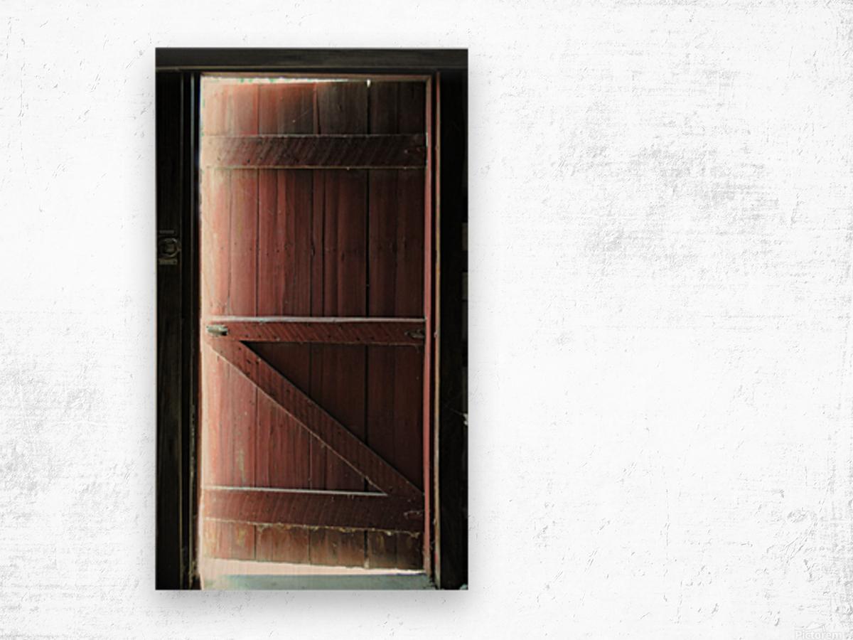 Barn Doors Open Wood print