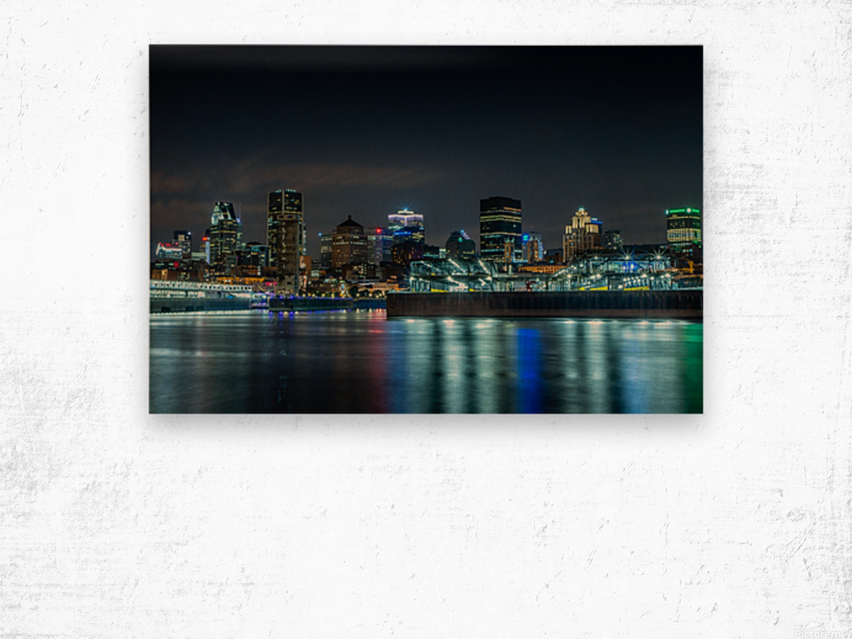 Montreal Skyline Wood print