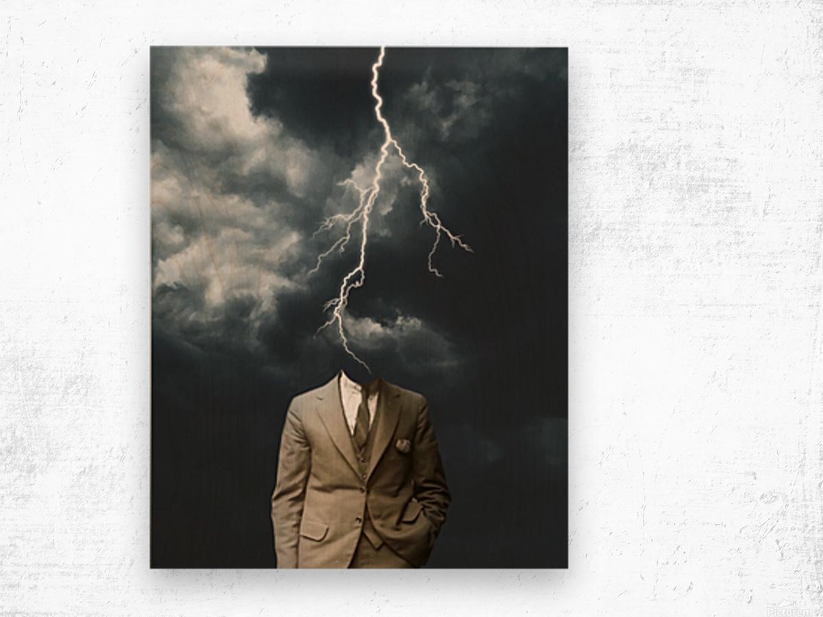 Lightning Strikes Wood print