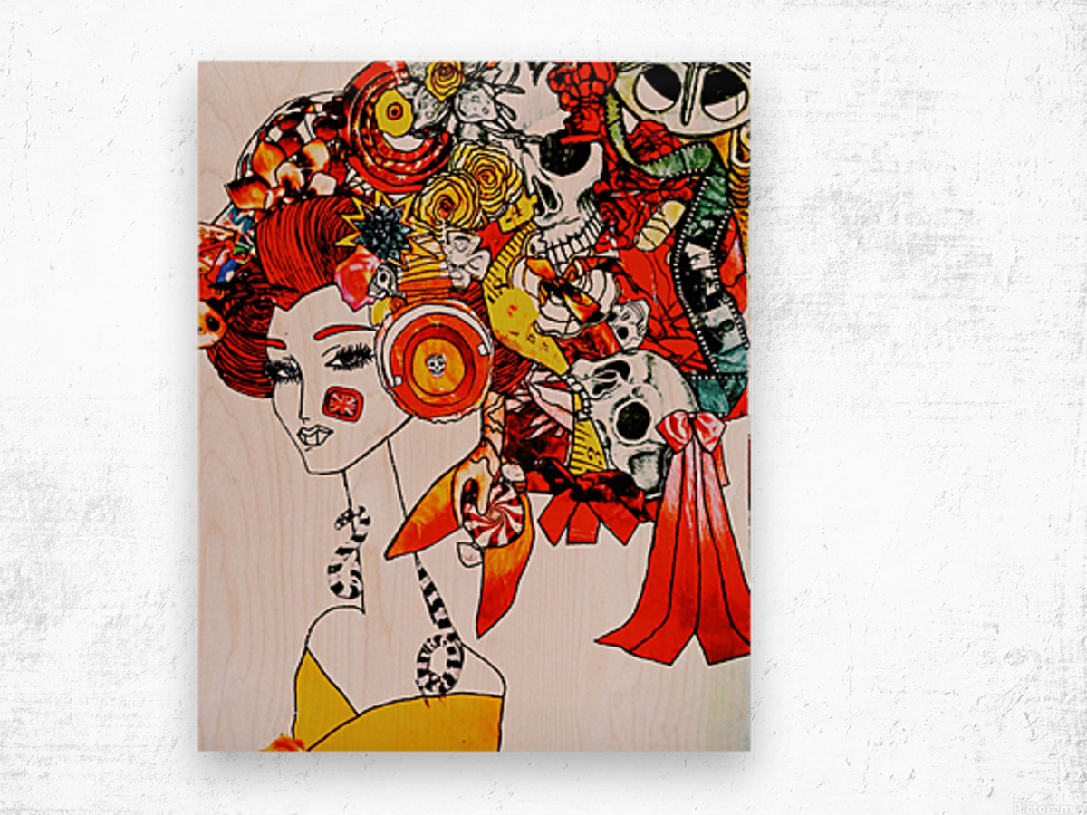 DEADBUG Geisha Wood print