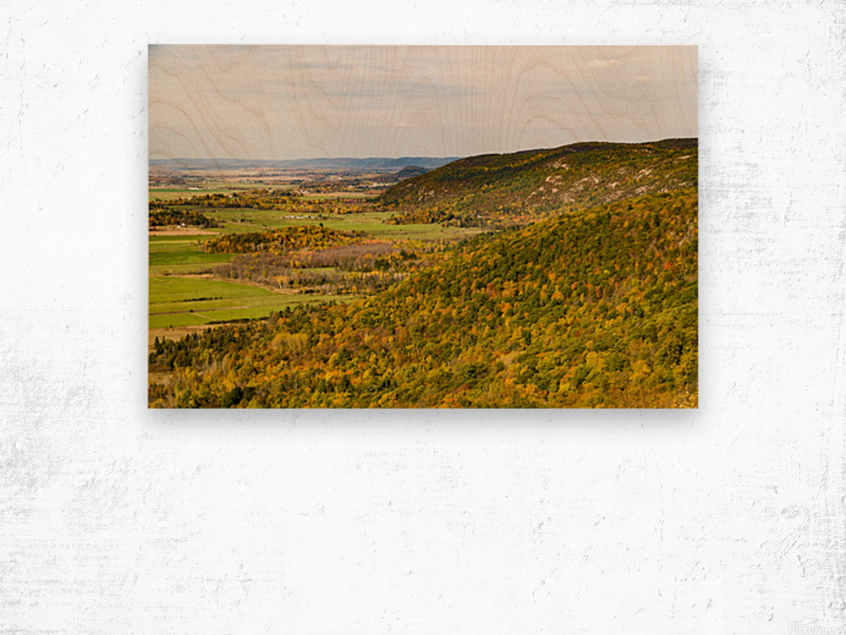 View of Ottawa Valley in Autumn 20 Wood print