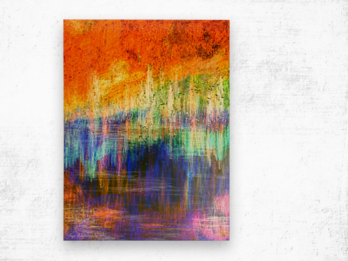 Lake Sunset Wood print