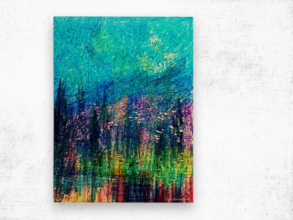 Luminous Night Wood print