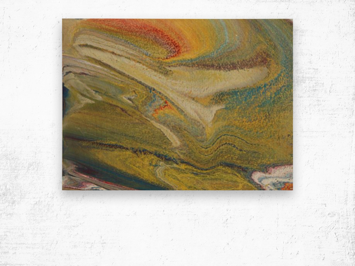 Rainbow Tornado Wood print