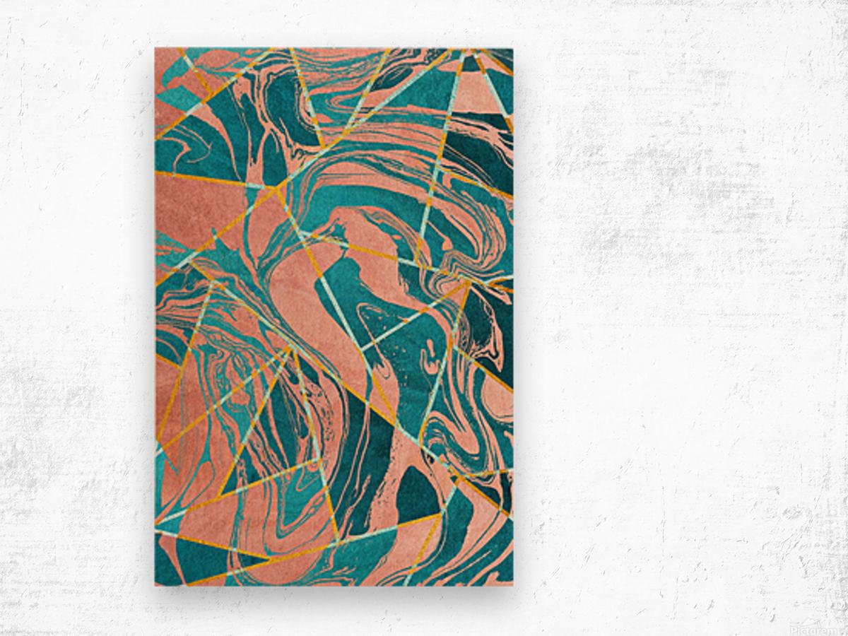 Geometric XXXXIII Wood print