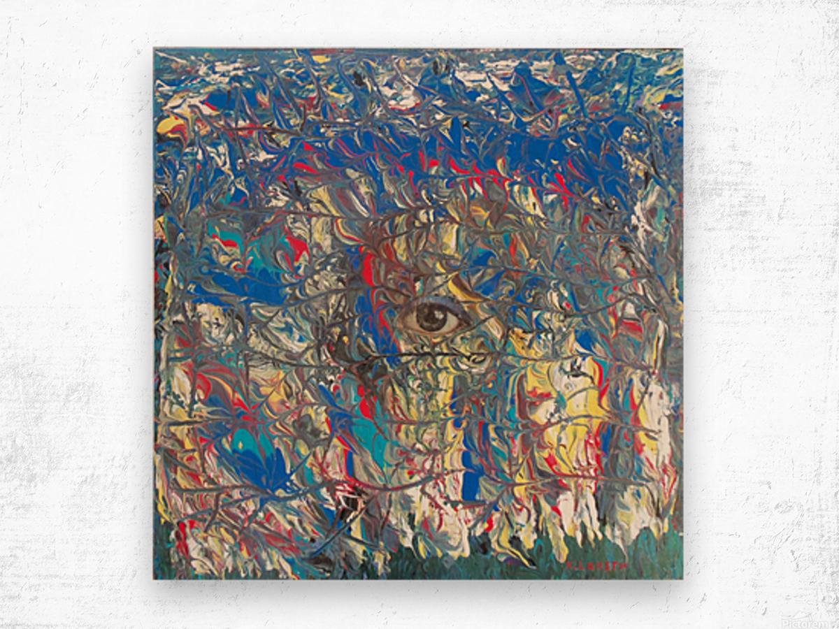 Zip up you eye  Wood print