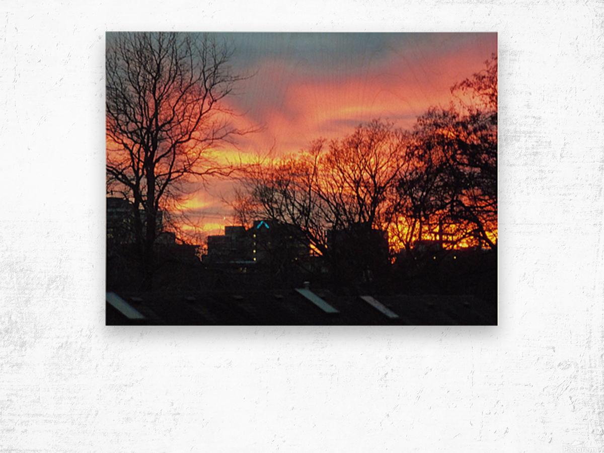Sunset 2 Wood print