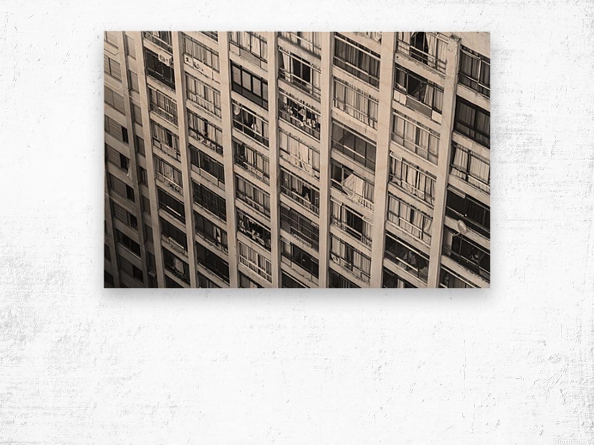Sao Paulo Downtown Wood print