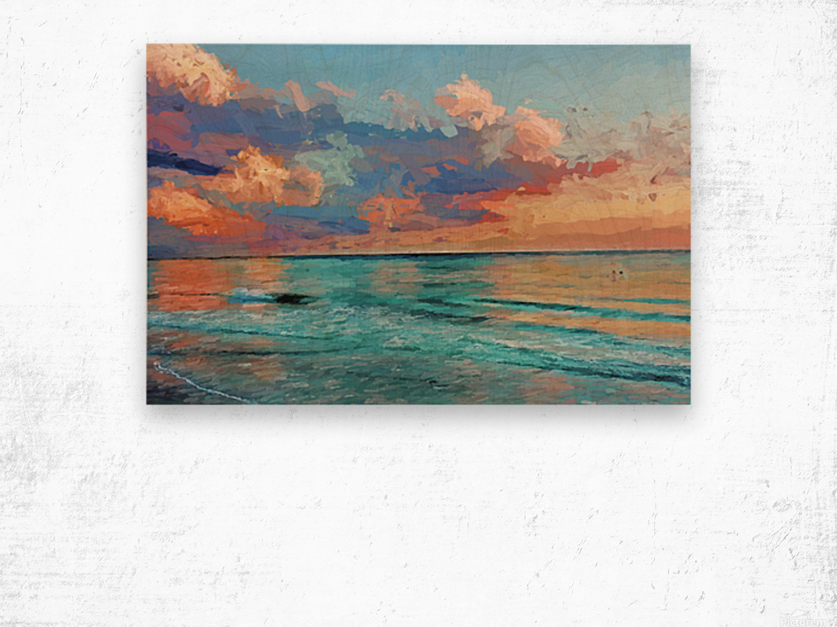 Seascape Serenade Wood print