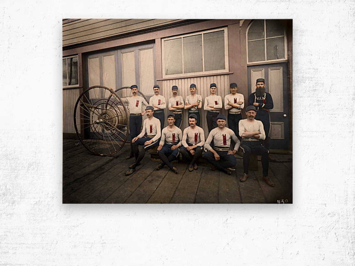 Vancouver hose reel racing team Wood print