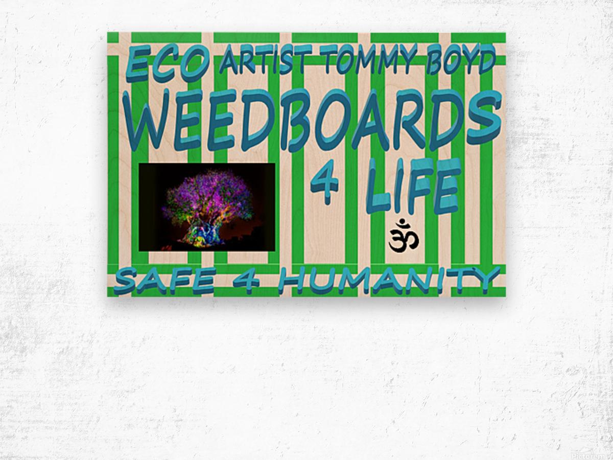 ECO WEEDBOARDS 4 LIFE   ECO ARTIST TOMMY BOYD Wood print