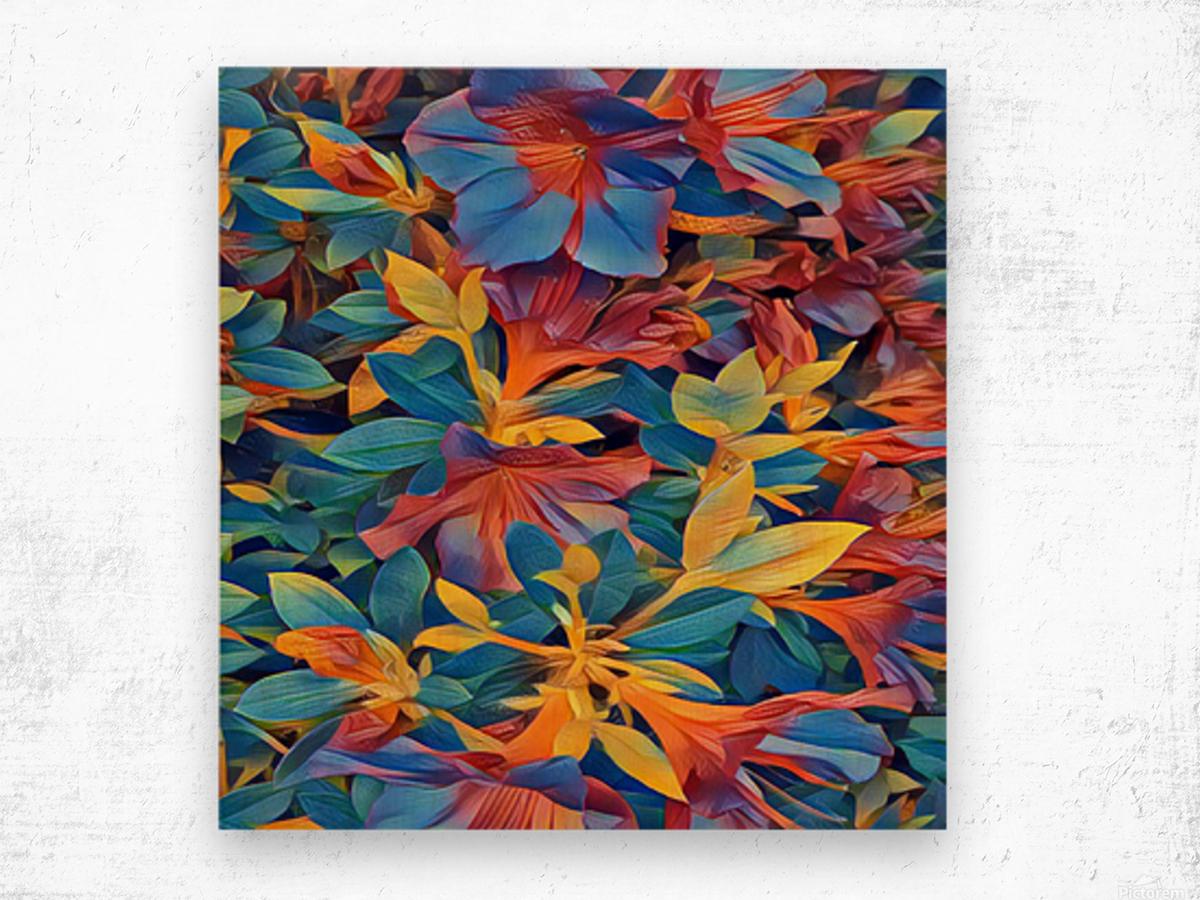 Abstract Garden Wood print