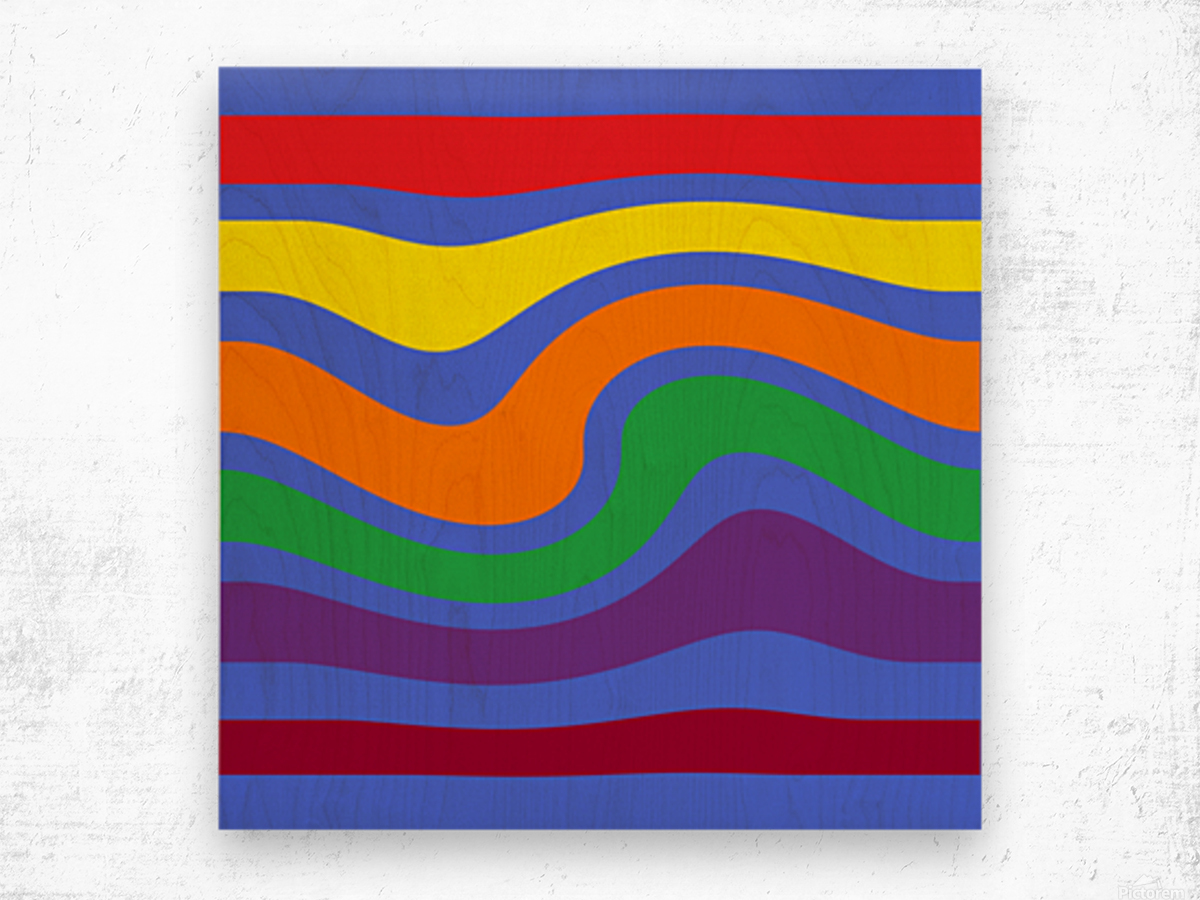 This is a beautiful design with great color, shape, line, texture, space and value.  (27) Wood print