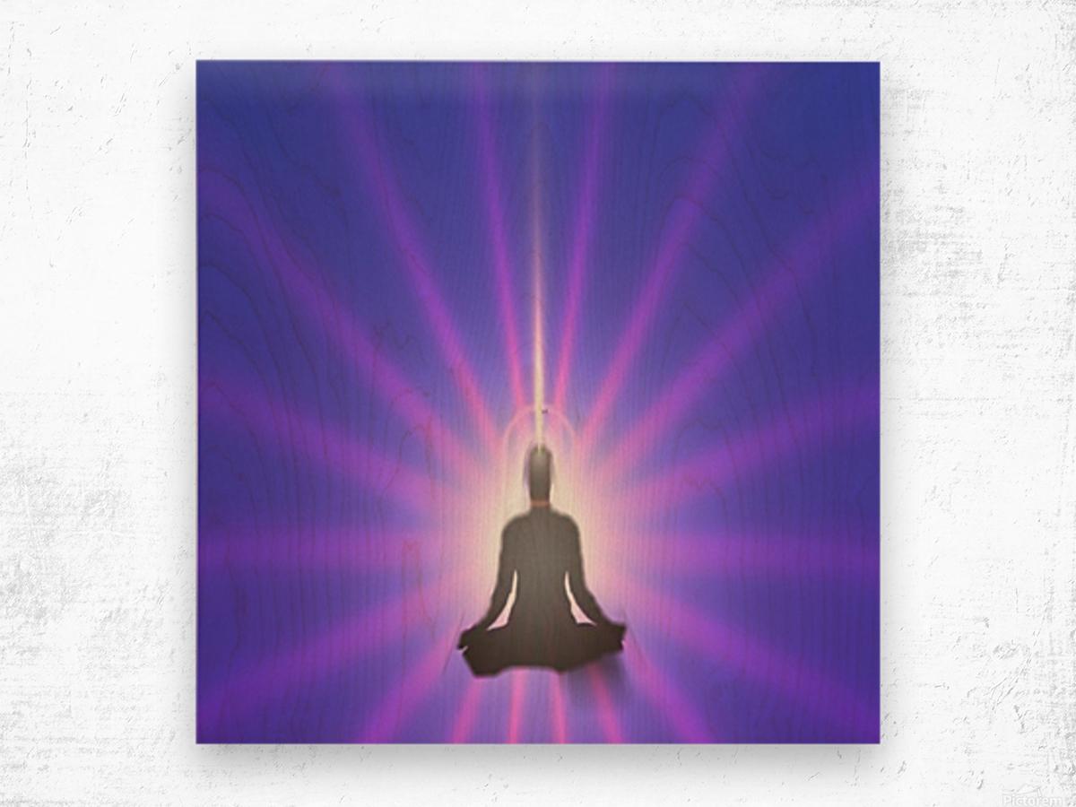 Meditation Art Wood print
