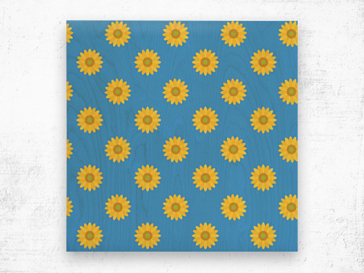 Sunflower (36) Wood print