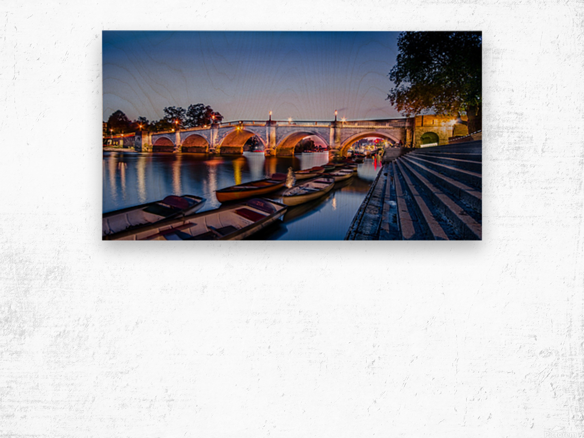 Richmond Bridge London Wood print