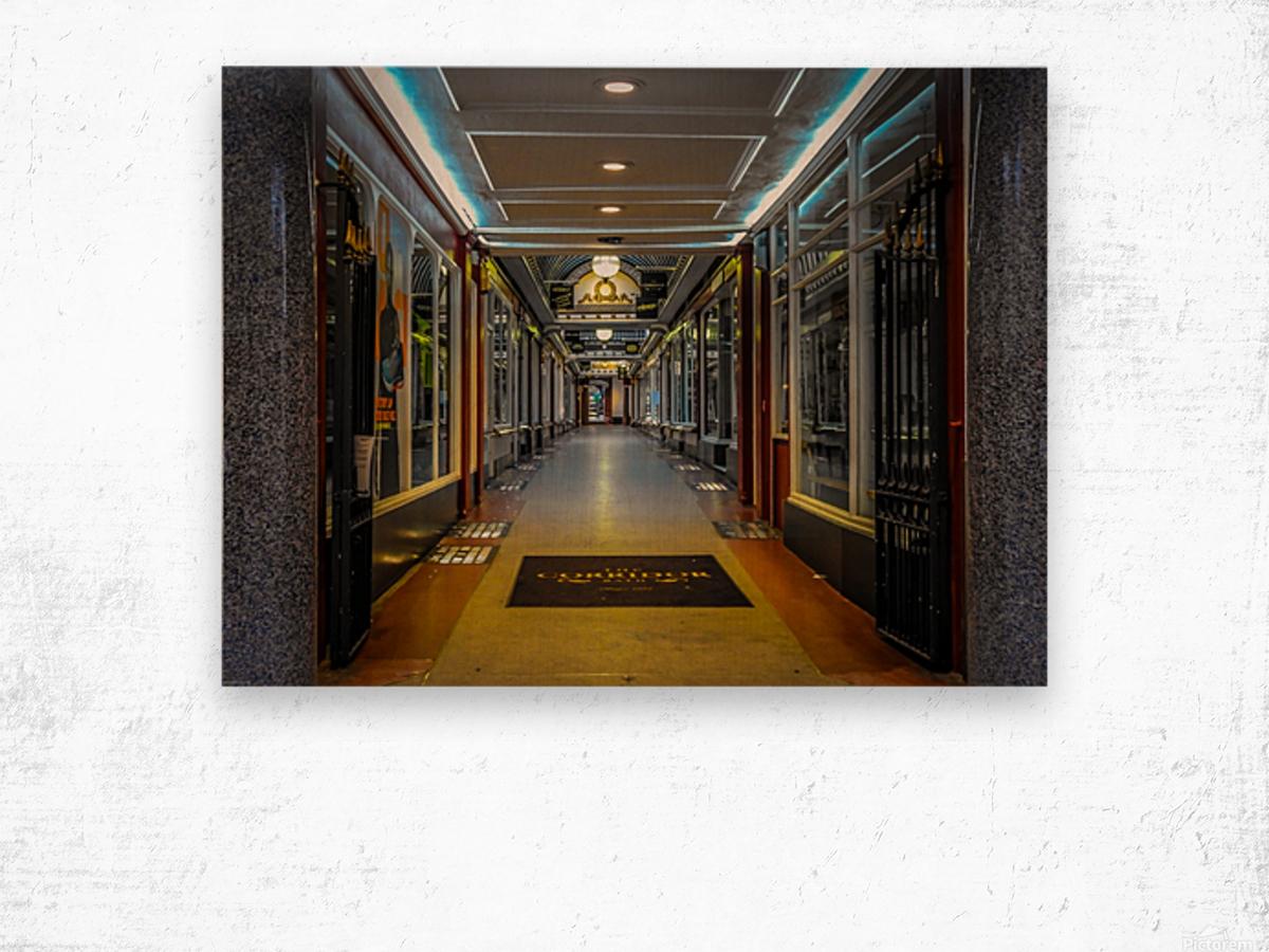 Hallway Wood print