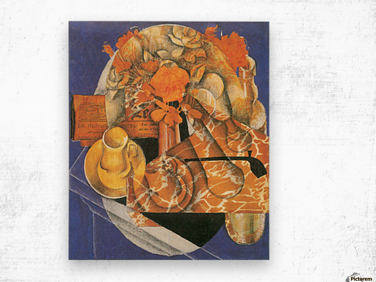 Leafs by Juan Gris Wood print