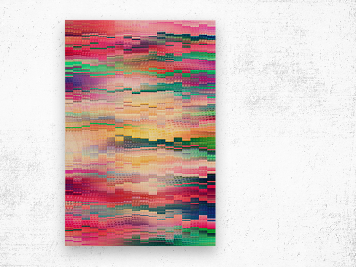 Vivid Pattern XVI Wood print
