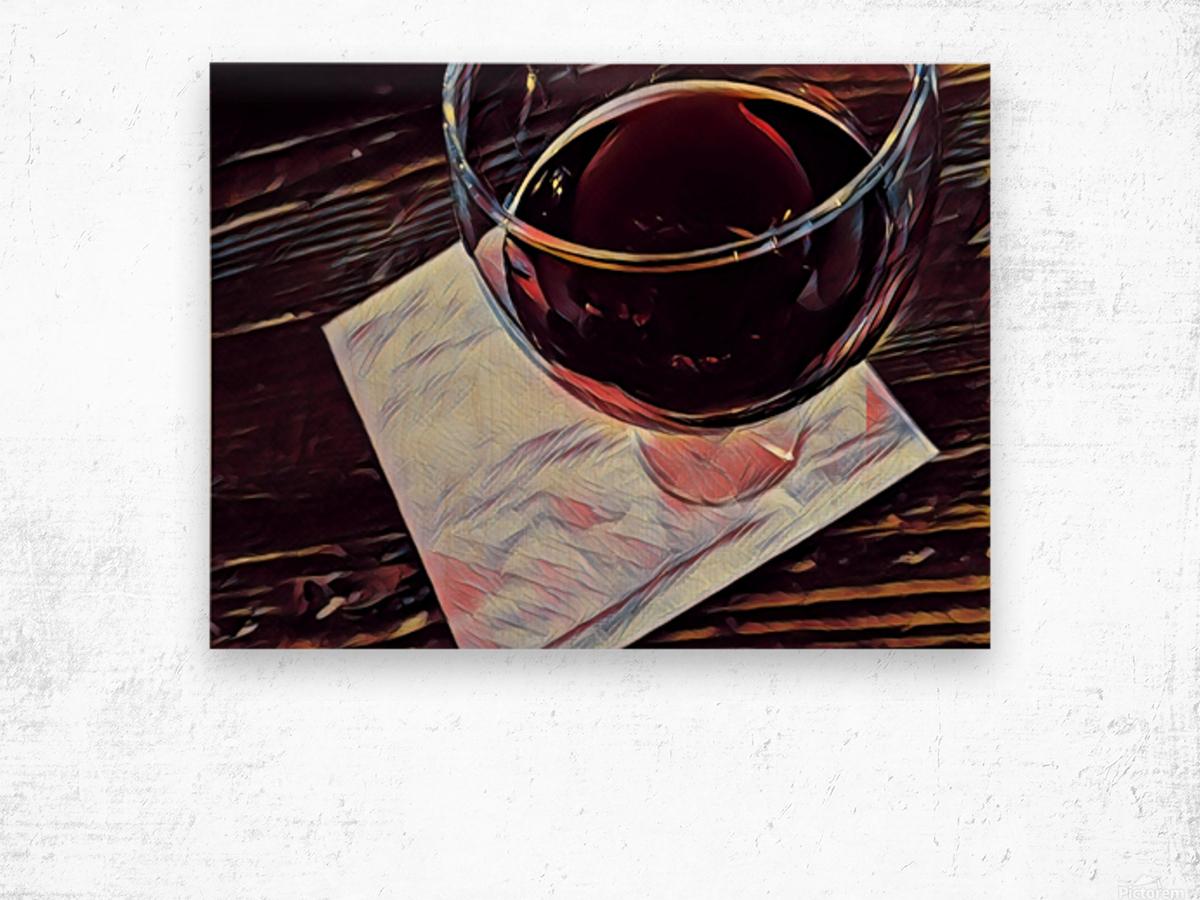 Wine Art Wood print