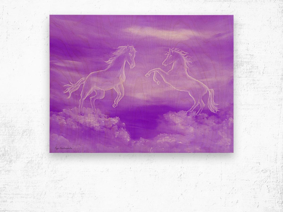 Spirit Horses Wood print