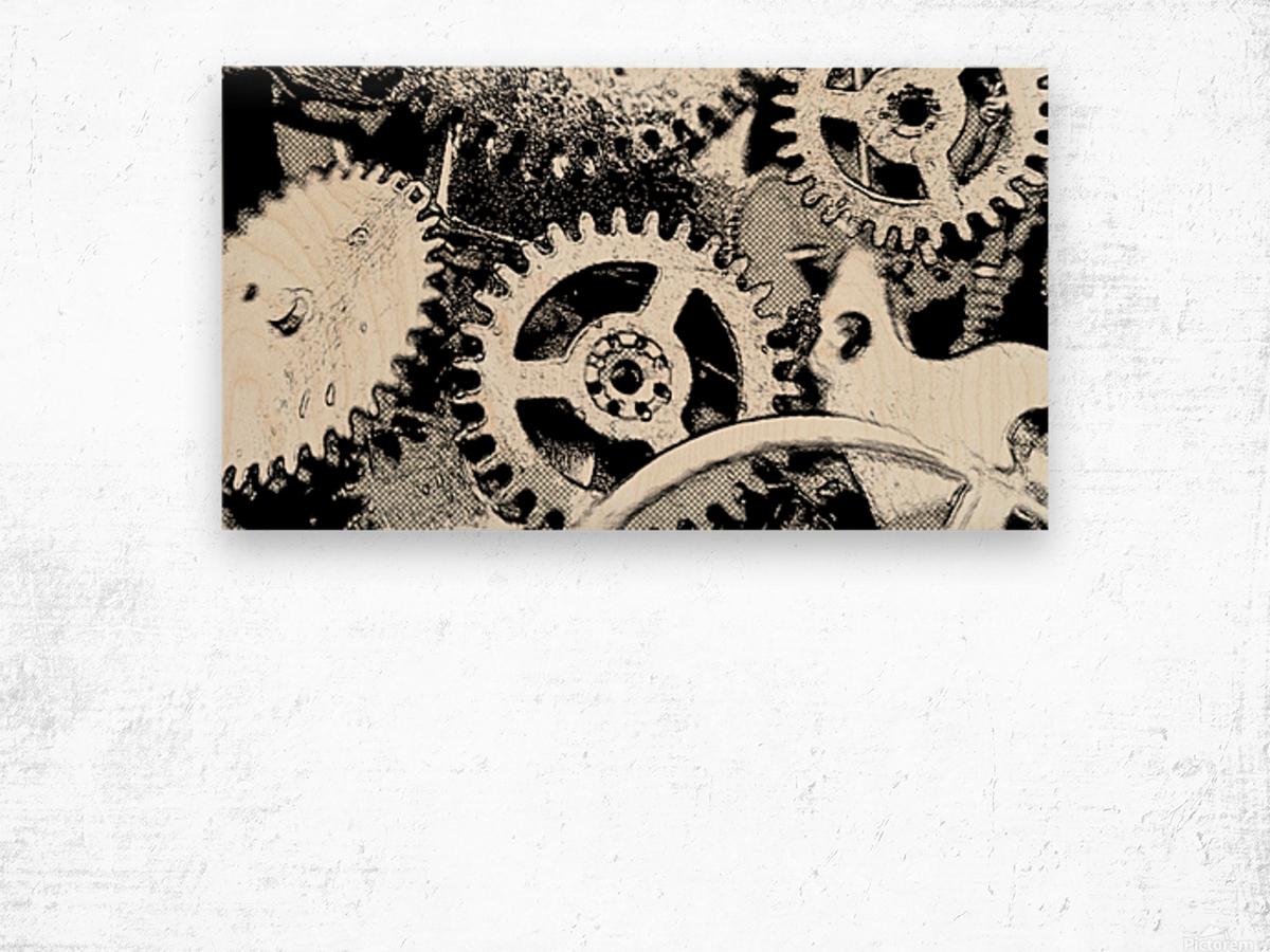 Gear Space Wood print