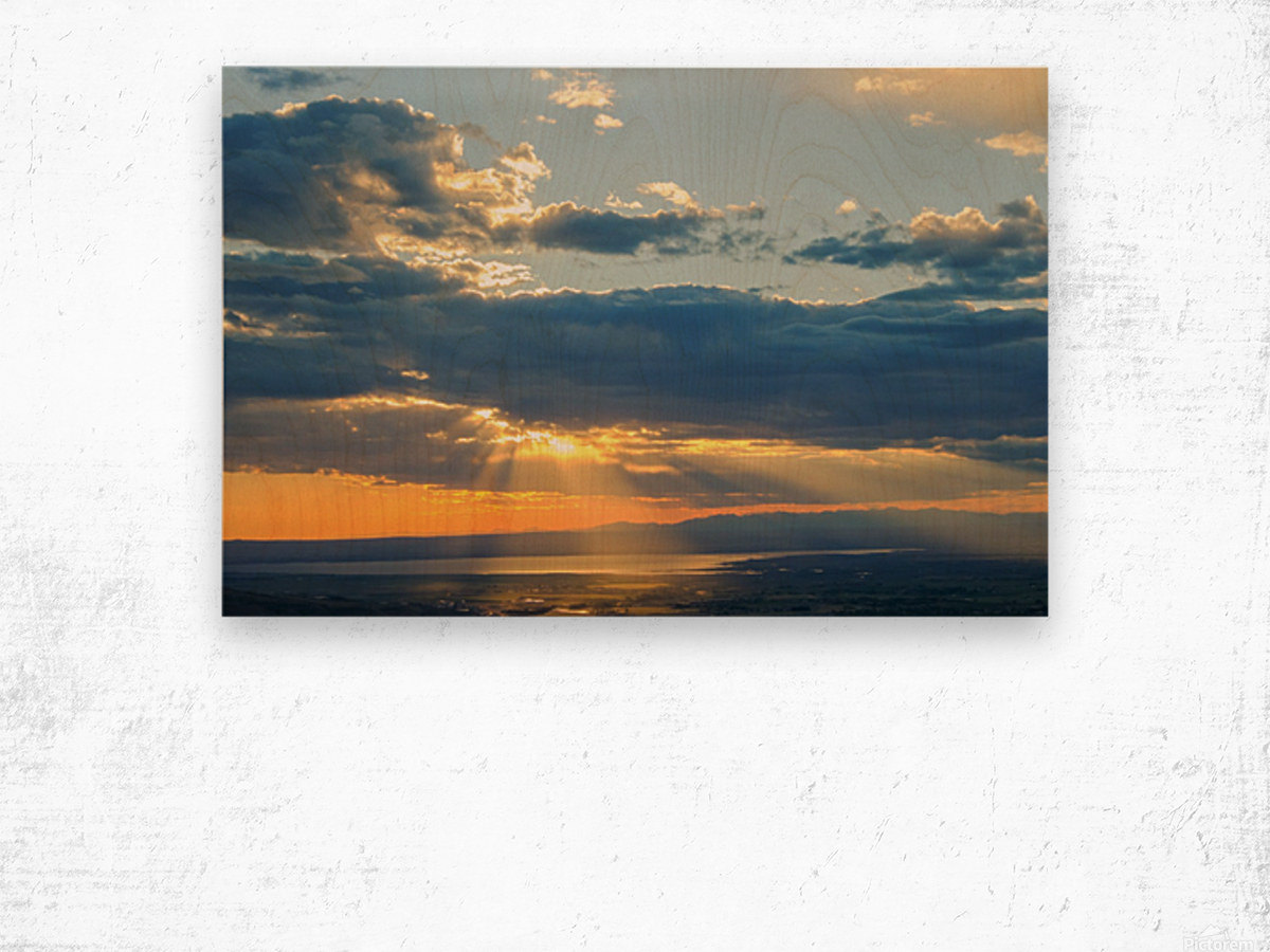 Portneuf Valley at Sunset Wood print