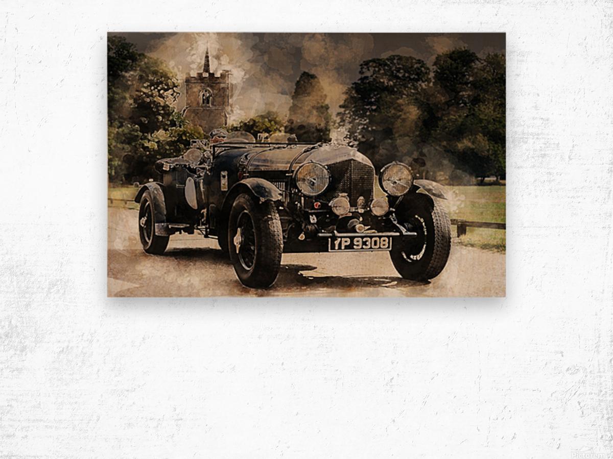 car automobile old timer automotive Wood print