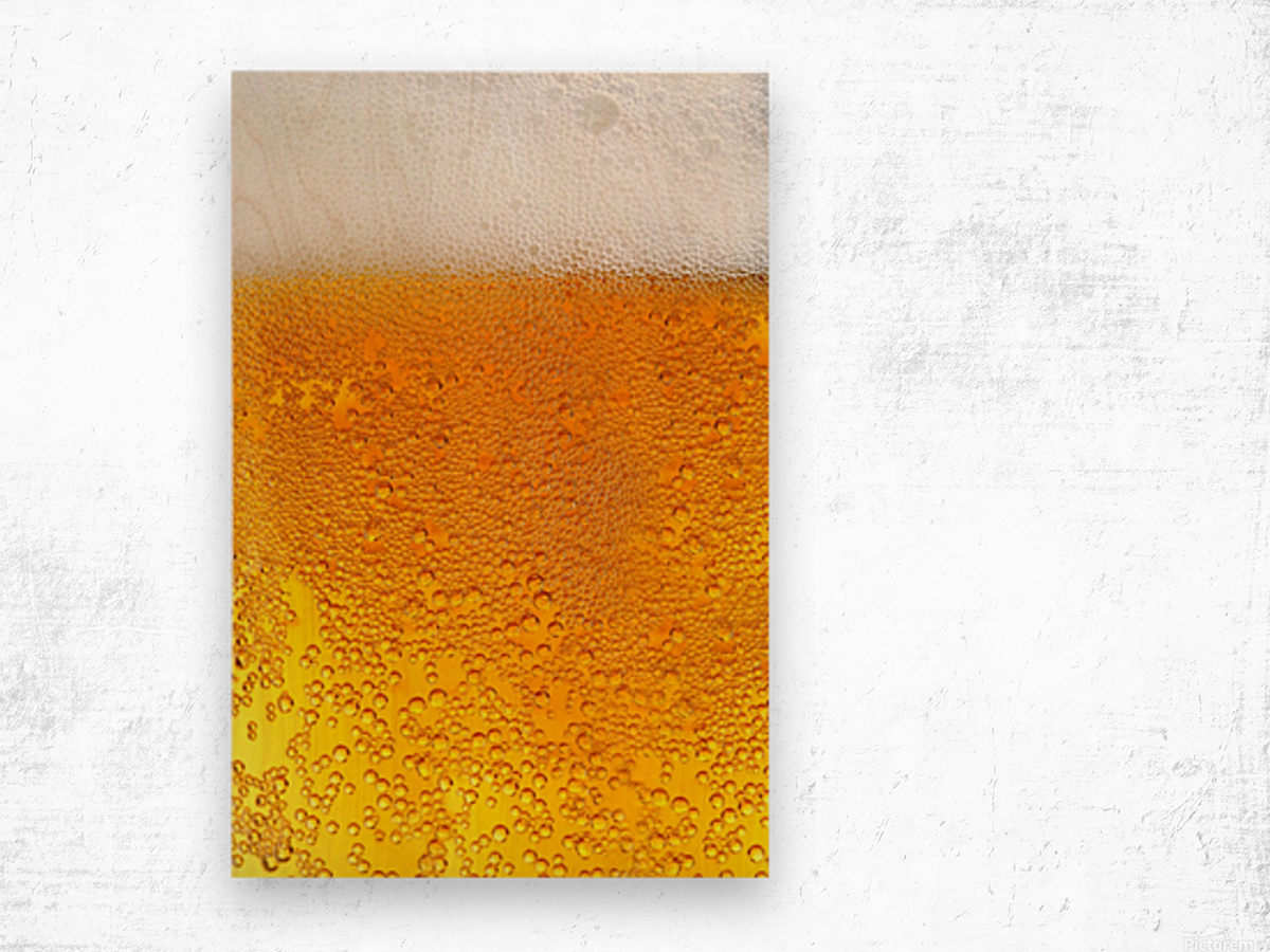 Beer Bubbles pattern Wood print