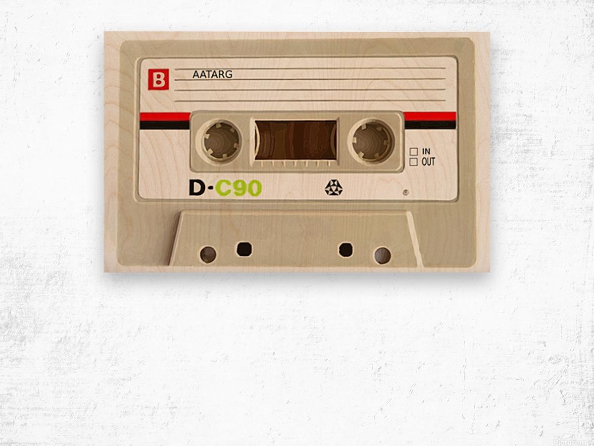 cassette tape recorder vintage old Wood print