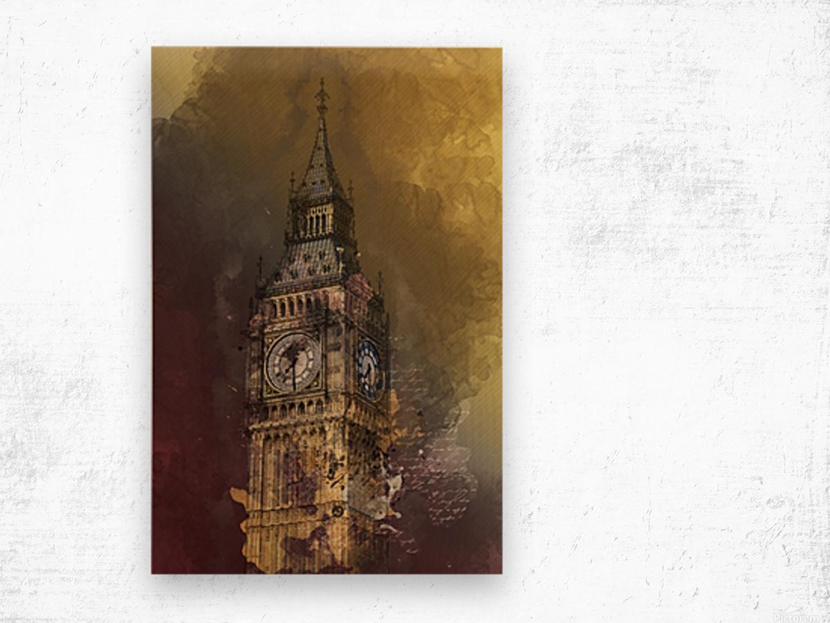 london big ben building Wood print