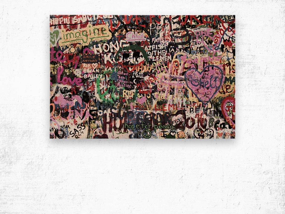 Graffiti Wall Background Wood print