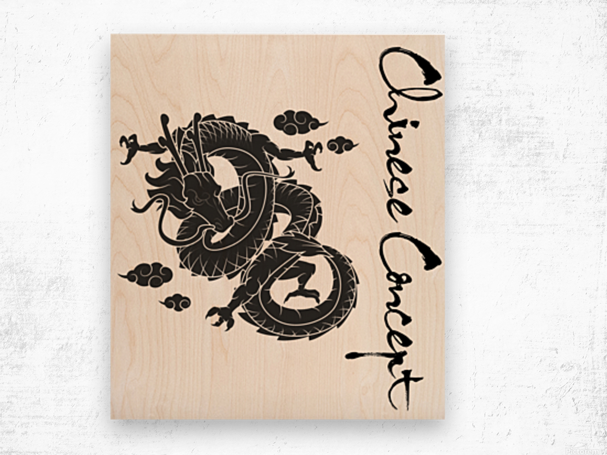 Chinese Concept 01A Wood print