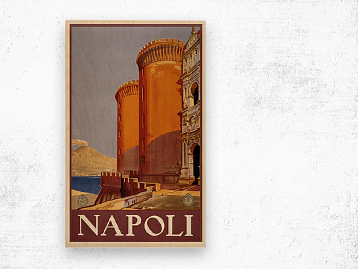vintage travel travel poster poster Wood print
