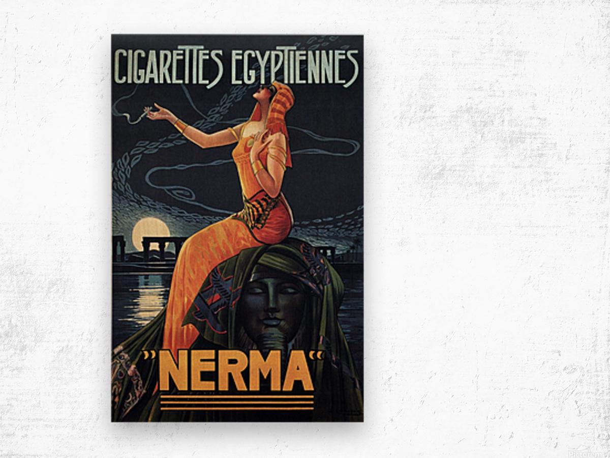 vintage poster print advertisement Wood print