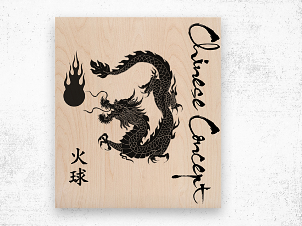 Chinese Concept 09A Wood print