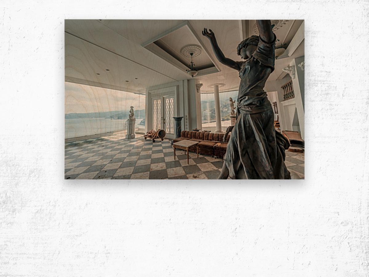 Abandoned Billionaires Mansion Wood print