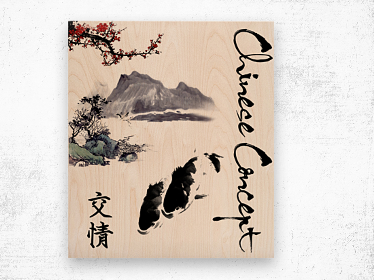 Chinese Concept 19A Wood print