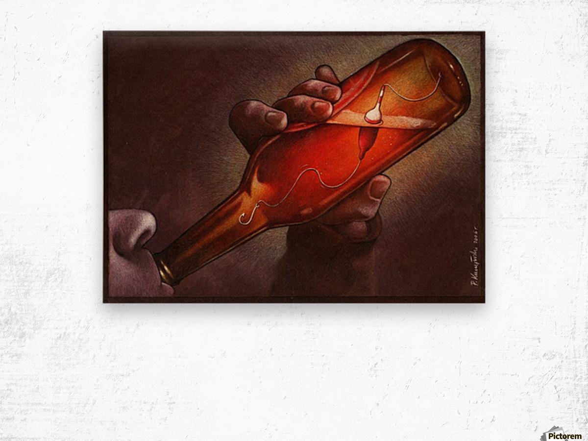 Drink Wood print