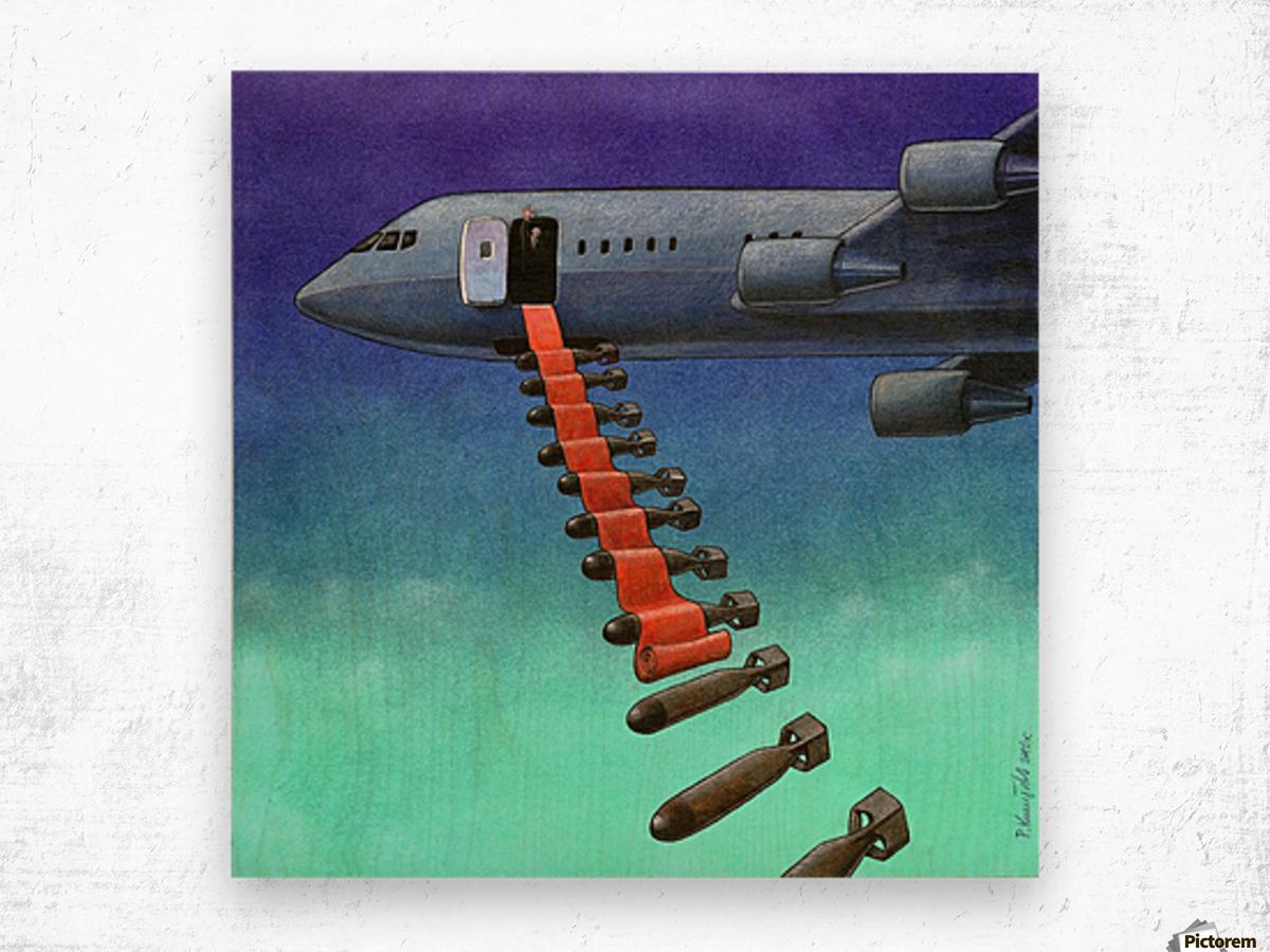 Bomb Wood print