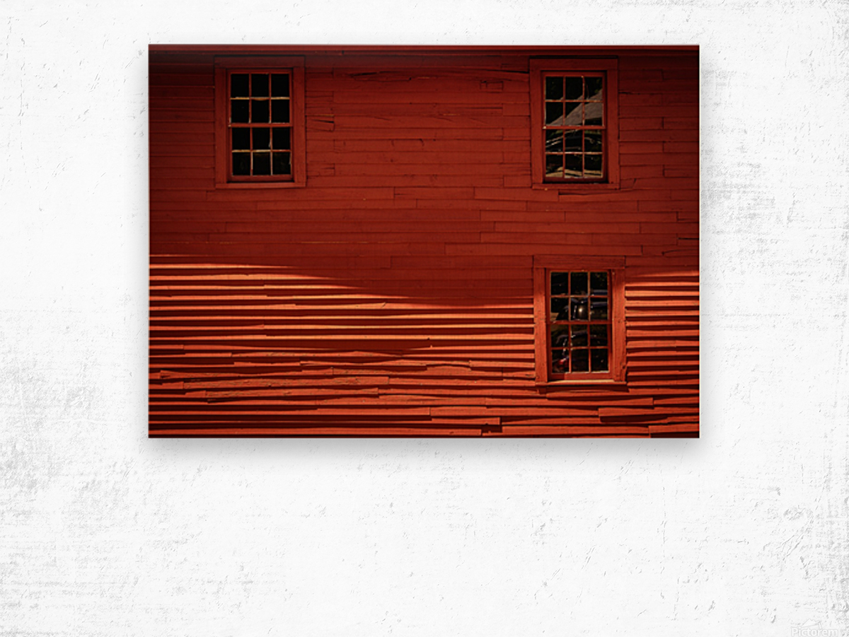 Red House - Harrisville NH Wood print