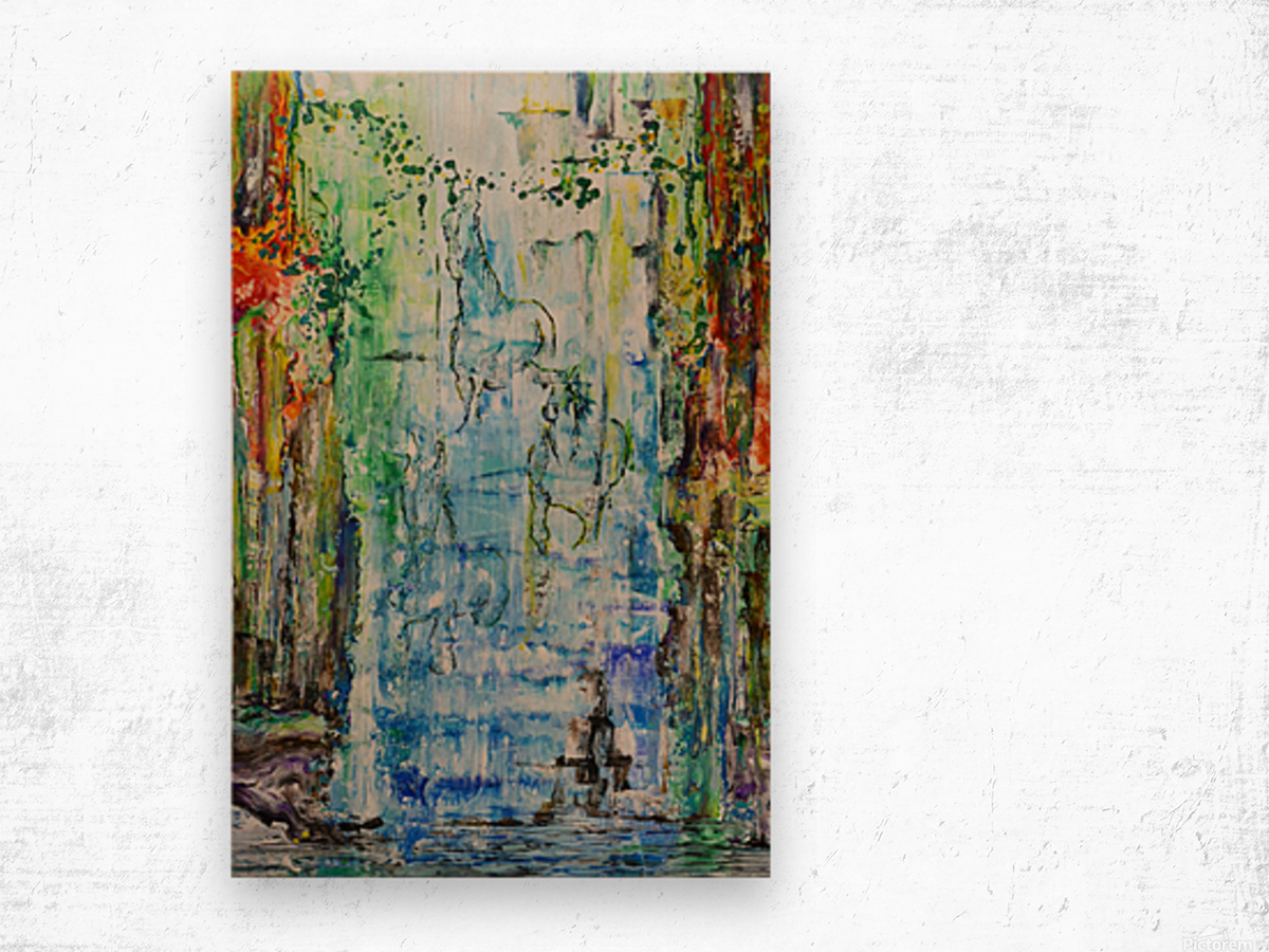 Dream Waterfall Wood print