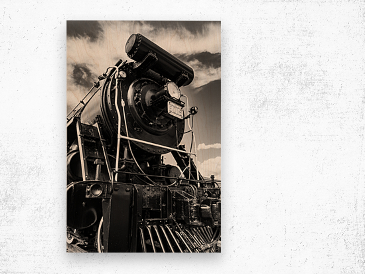 Canadian Steam Locomotive 6015 B Wood print