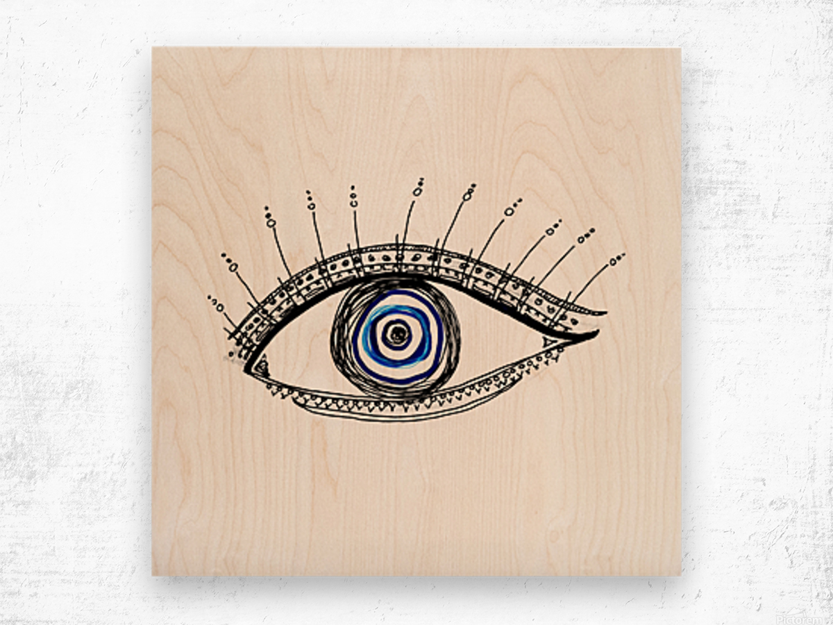 The Eye  12X12 1 1 Wood print