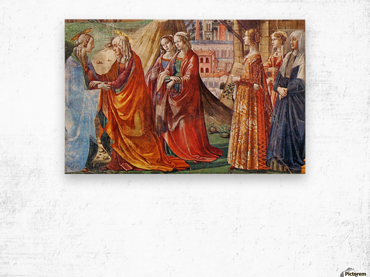 The Visitation Wood print