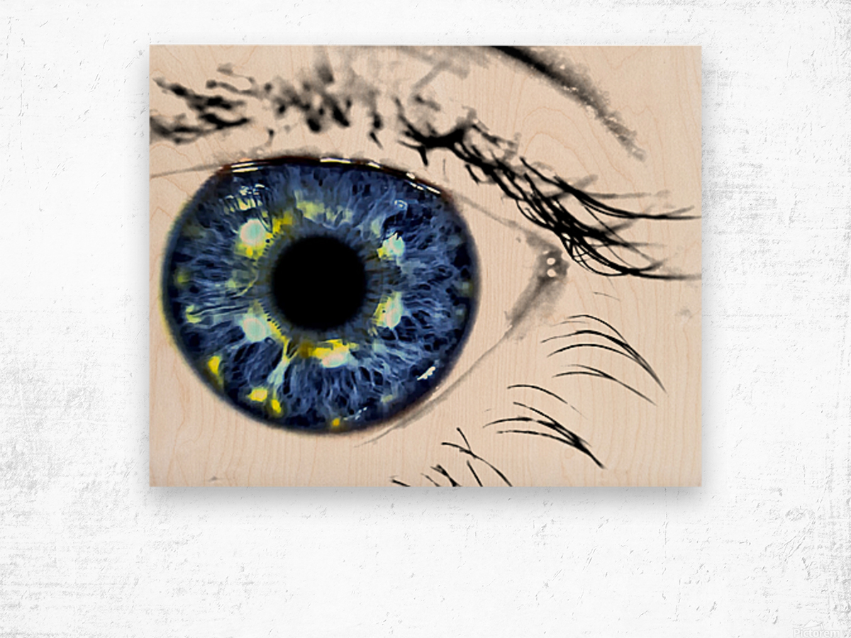 Eye Art 1 Wood print